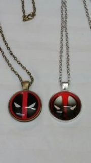 2 Deadpool Necklaces