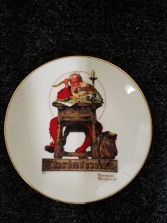 Norman Rockwell Xmas Plate