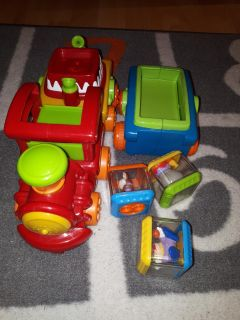 Fisher price train with blocks