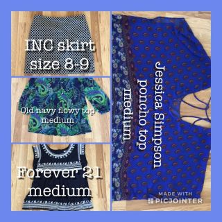 3 tops & 1 skirt Lot ALL 4 for only $45.00