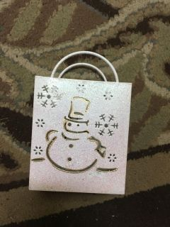 Snowman mini tealight luminary Christmas or winter home decor. Great shape. Bought here and never used