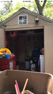 Tool Shed 8ft x 8ft with a 4ft deck