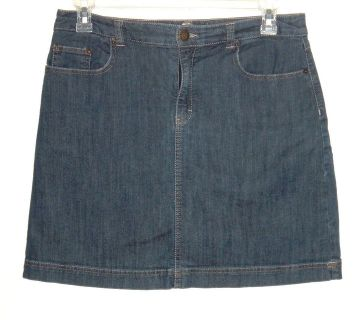 Croft & Barrow Denim Jean Skort Womens 12 Skirt Shorts Stretch Knee Length