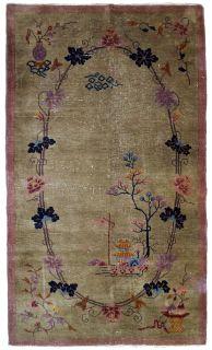 Handmade antique Art Deco Chinese rug, 1B611