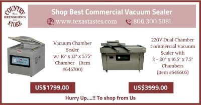 Commercial vacuum sealer | Texastastes