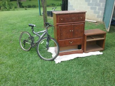 Bike, dresser, nightstand all three are FREE