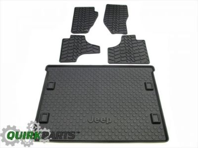 Find 11-12 Jeep Liberty FRONT & REAR SLUSH MATS & CARGO TRAY SET OF 5 OEM NEW MOPAR motorcycle in Braintree, Massachusetts, United States, for US $178.20