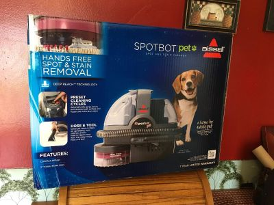 New Bissell SpotBot Pet Carpet Cleaner