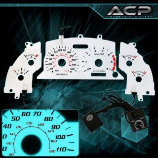 Buy White Indiglo Gauge Dashboard Cluster Upgrade For 1999-2004 Mustang 6Cyl JDM motorcycle in La Puente, California, United States, for US $21.99