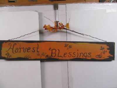 """hand made hand painted sign 24 x 4"""""""