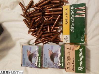 For Sale/Trade: 7.62x54r and 20 g