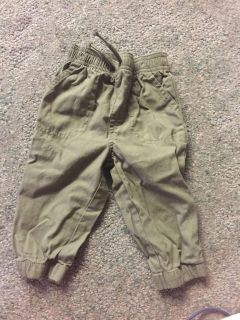 12 month army green pants