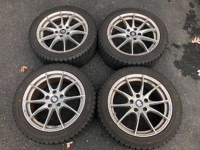 BMW WINTER WHEELS TIRE SET M2 5X120 SPARCO 18 X 8 INCH TPMS YOKOHAMA TIRES 245/45R18