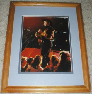 Garth Brooks Signed Photo - In Concert - Framed & Matted - Country Music Legend