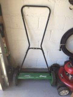 Push lawn mower, no gas required