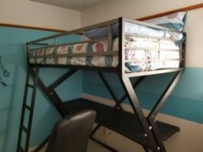 Loft Bed w/desk & mattress