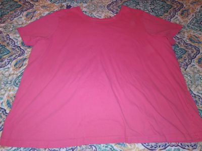 Women Within coral shirt size 26-28. Pick up by Deer Island Store.