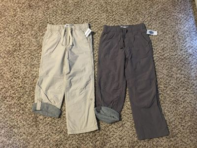 Old Navy Jersey Lined Pants. Tan & Grey. Size 5t. Brand New with Tags.