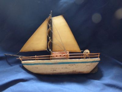Wood with Metal boat
