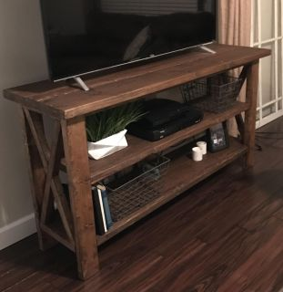 Farmhouse TV stand + end table (will add pic soon)