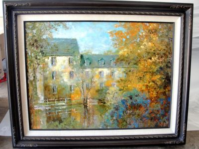 FRAMED PICTURE HUGE 4 FT. X 3 FT. AUTUMN REFLECTION