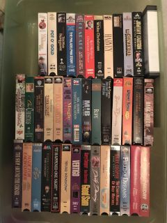 VHS MOVIES titles as shown