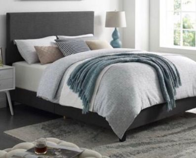 Gray queen bed