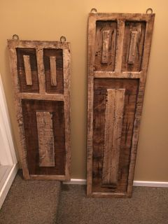 Decorative, hanging, accent shutters
