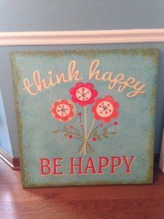 """Be Happy"" cheerful canvas picture"