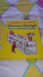 Brand new Curious George Goes to the chocolate factory 8x8 book ($18.00)