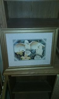 White Parrot picture in Gold frame