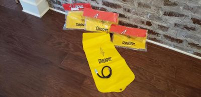 Split Flotation Bags for Whitewater Kayaks & Decked Canoes. Set of 4. All New. Never Used. Low Volume Stern Only.