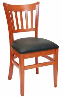 Cherry Wood Restaurant Chairs - 1st Folding Chairs Larry