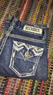 Rock and roll cowgirl blue jeans