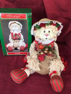 Christmas Decor Flossie Shelf Mantle Sitter