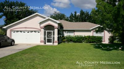 Great Location in SE Cape Coral 3 Bedroom 2 Bath Single Family Home