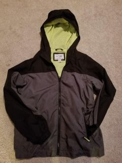 Boys Children's Place light weight, hooded grey and black jacket, size 14