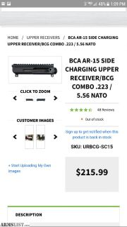For Sale: Ar15 side charging upper with BCG