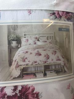 NEW Simply Shabby Chic 3 piece KING comforter set