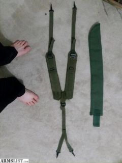 For Sale: machete holster and alice suspenders
