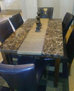 6chairs table set