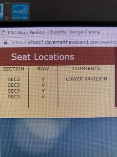 Dave Matthews tickets - 4 available
