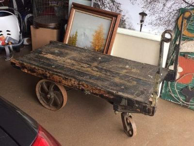 Antique Railroad Luggage Cart