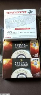 For Sale: . 45 acp HST and target ammo