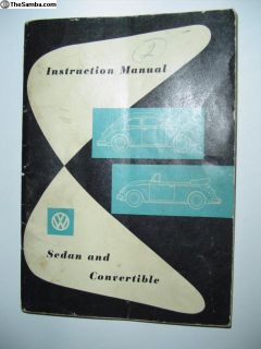 Owners manual 1961 Bug REDUCED