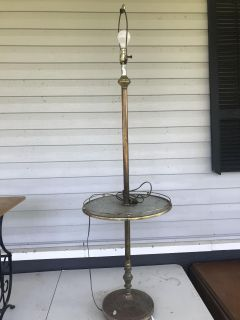 Vintage lamp with table