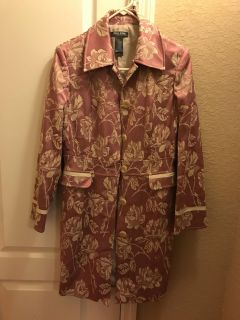 Brand new Women s embroidered floral coat Biosu Michele Bohbot size 10