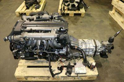 JDM Toyota 1JZGTE Rear Sump 2.5L Turbo Engine M/T R154 Trans