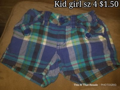 Kid girl sz 4 shorts