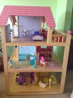 KidKraft Dollhouse.36.50Lx36.50Wx54.50H.10rooms70pcsfurniture